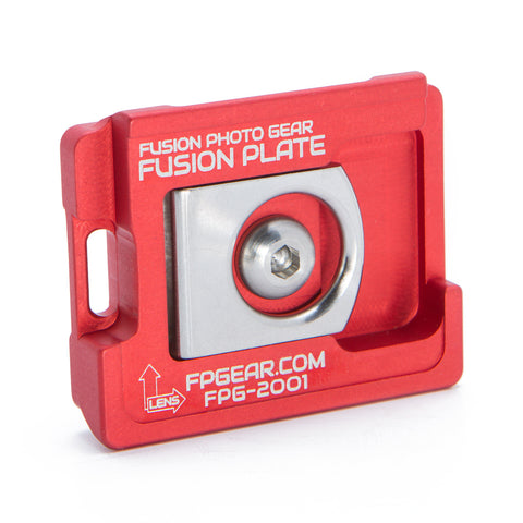 Manfrotto Compatible Fusion Plate – Red