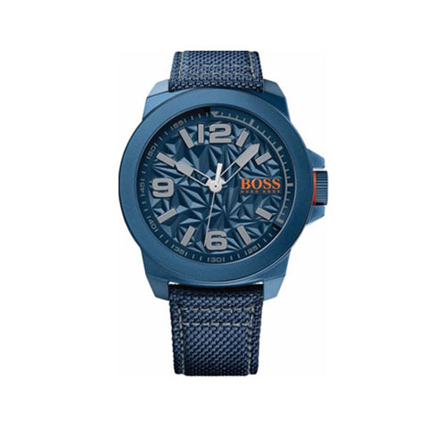 Hugo Boss New York Mens Blue Round Kevlar Watch