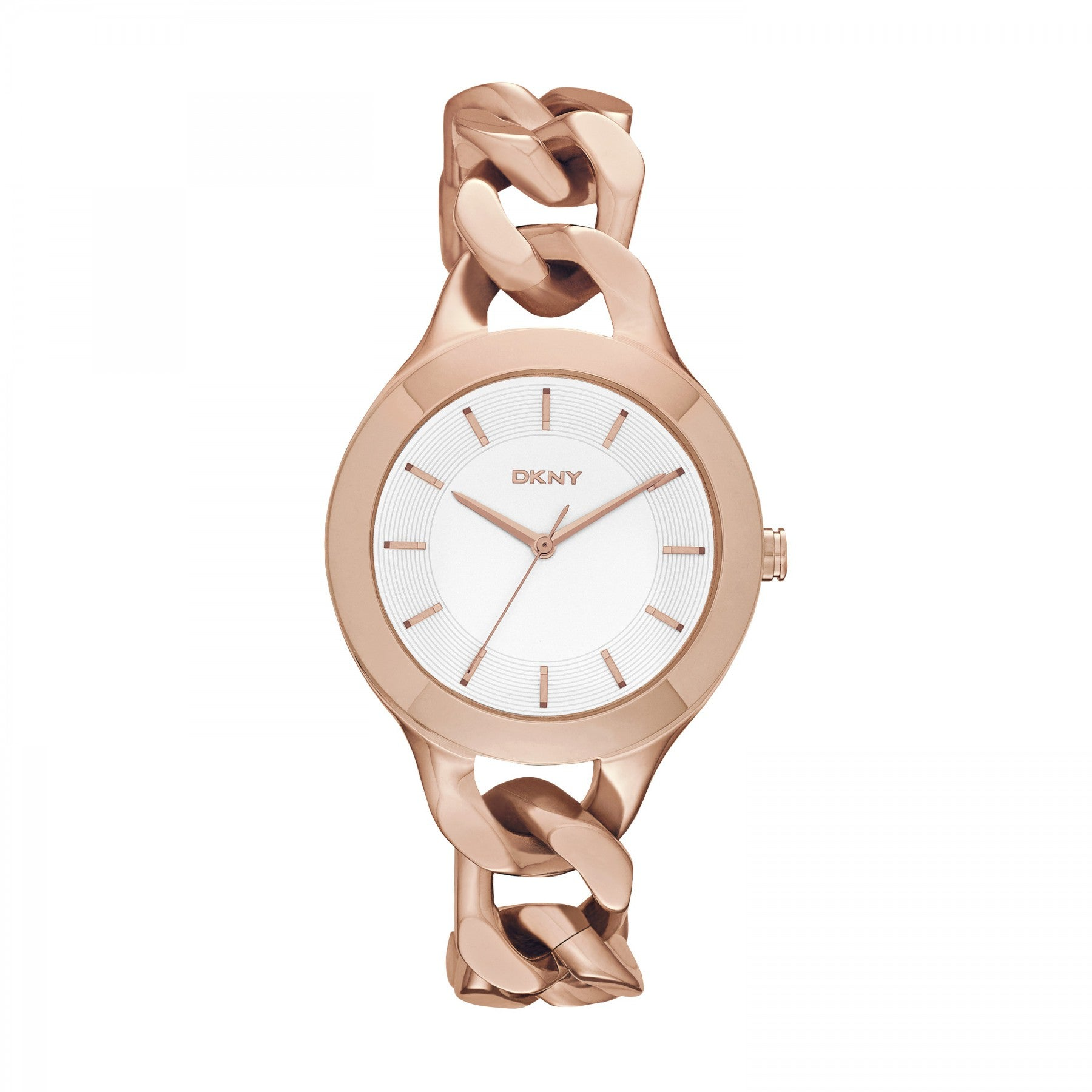 Womens DKNY Chmabers Rose Gold Watch