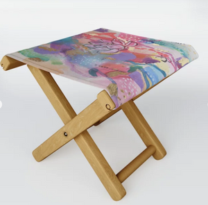 "Folding Stool ""drown in love, bathe in gratitude, swim in abundance"""