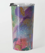 "travel mug ""drown in love, bathe in gratitude, swim in abundance"""