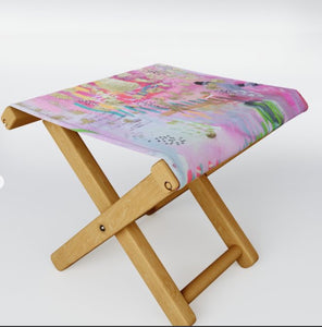 "Folding Stool ""be the goddess you already are"""