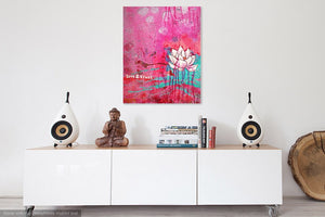 lotus wall art