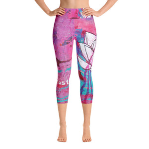 "Yoga Capri Pants ""love and trust - this is all"""