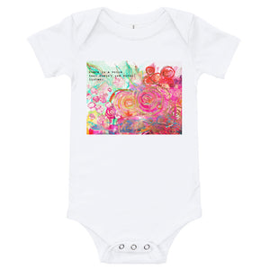 "Yoga Baby Body Suit ""there is a language that doesn't use words. listen."""