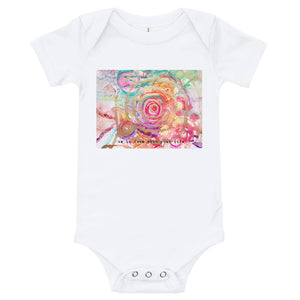 "Yoga Baby Bodysuit ""be in love with your life"""