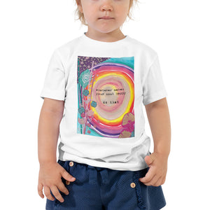 "Toddler Kids Yoga Shirt ""whatever makes your soul happy - do that"""