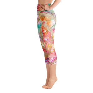 "Yoga Capri Pants ""be in love with your life"""