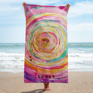 "Beach towel ""trust"""