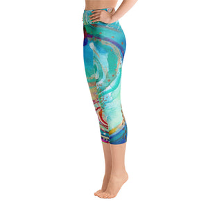 "Yoga Capri Pants Rumi ""gratitude is the wine for the soul - go on, get drunk"""