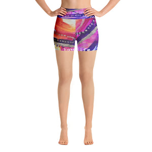 "Yoga Shorts ""love your life and it will love you back"""