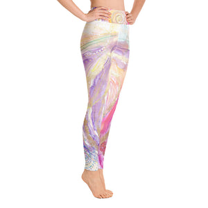 "Yoga Pants ""you have escaped the cage, your wings are stretched, now fly!"""