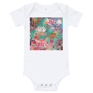 "Yoga Baby Bodysuit ""what if I fall? oh my darling, what if you fly?"" e.h."