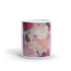 "Mug ""lean towards joy"""