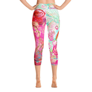 "Yoga Capri Pants Rumi ""there is a language that doesn't use words - listen"""