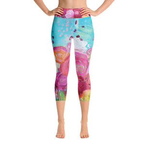 "Yoga Capri Pants ""align with your soul"""