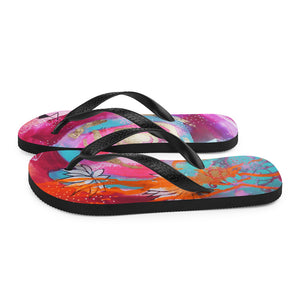 "Flip-Flops Rumi ""shine like the whole universe is yours"""
