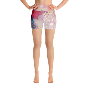 "Yoga Shorts ""lean towards joy"""