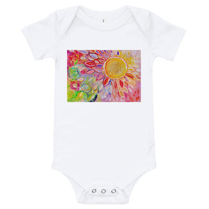 "Yoga Baby Bodysuit ""love yourself"""