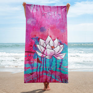 "Beach towel ""love & trust - this is all"""