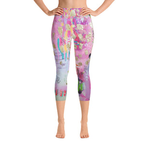 "Yoga Capri Pants ""be the goddess you already are"""