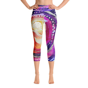"Yoga Capri Pants ""love your life and it will love you back"""