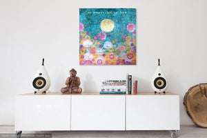 yoga art, yoga gifts, yoga wall art, yoga studio decor