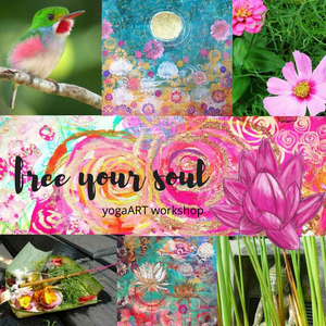 "yogaART Workshop ""free your soul"" - an incredible journey to your highest self with Yoga & Artmaking 
