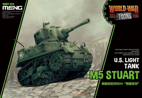 WORLD WAR TOONS U.S. LIGHT TANK M5 STUART