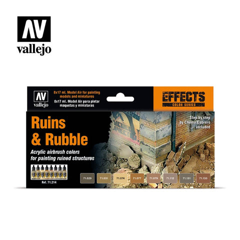 MODEL AIR RUINS & RUBBLE 8 COLOUR ACRYLIC PAINT SET