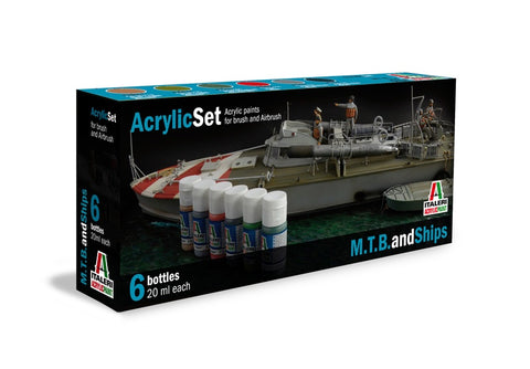 M.T.B. and Ships (6) Acrylic Paint Set