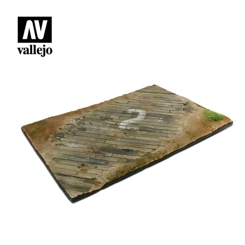 32x21cm Wooden Airfield Surface Diorama Base