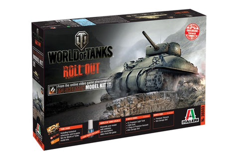 1/35 World of Tanks M4 Sherman Plastic Model Kit