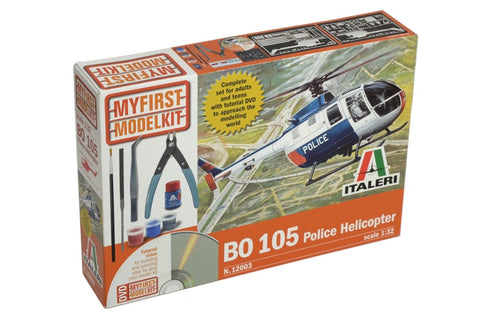 1/32 My First Model KIt BO-105 Police Helicopter