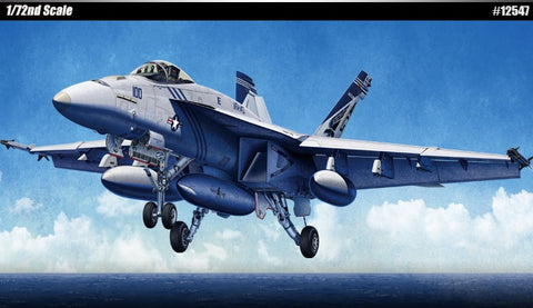 "1/72 USN F/A-18E VFA-143 ""Pukin Dogs"" Super Hornet Plastic Model Kit"