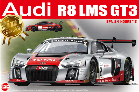 1/24 Audi R8 LMS GT3 24h. Spa 2015 WRT Team #1 & #2 (2 decals)