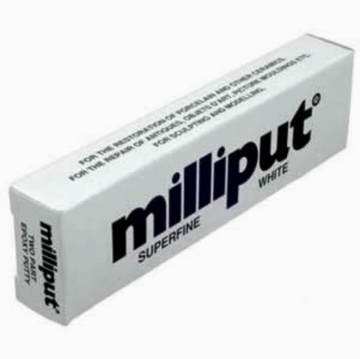 Milliput Superfine White 2 Part Putty MIL4 (damaged packaging)