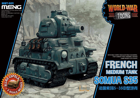 WORLD WAR TOONS FRENCH MEDIUM TANK SOMUA S35