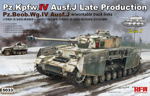 1/35 Pz.kpfw.IV Ausf.J late production /Pz.beob.wg.IV Ausf.J w/workable track links