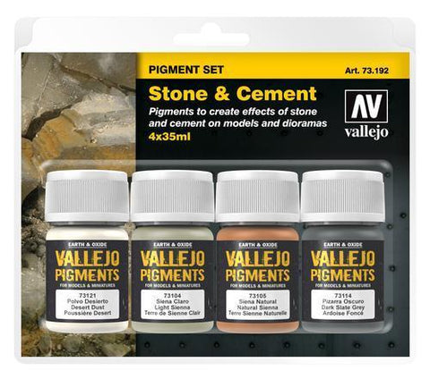 PIGMENTS STONE AND CEMENT 4 X35ML