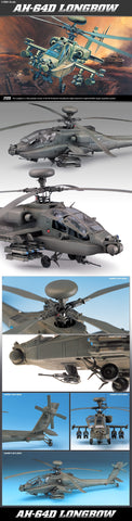 1/48 AH-64D LONGBOW APACHE PLASTIC MODEL KIT