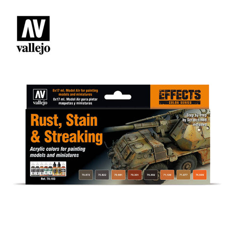 Vallejo Model Colour Rust, Stain & Streaking Box Set