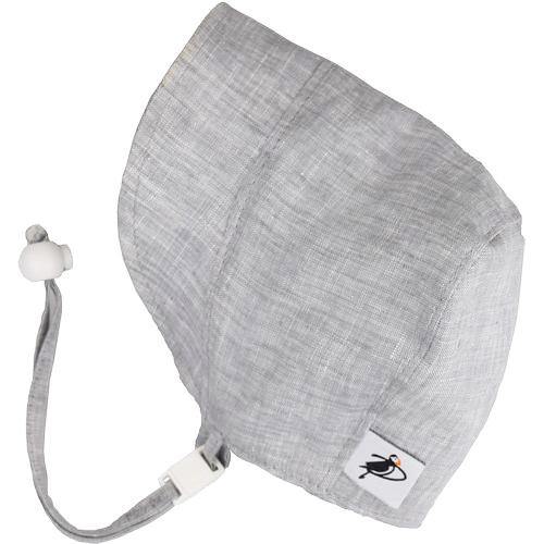Grey Linen Summer Day Bonnet, Sun Protection