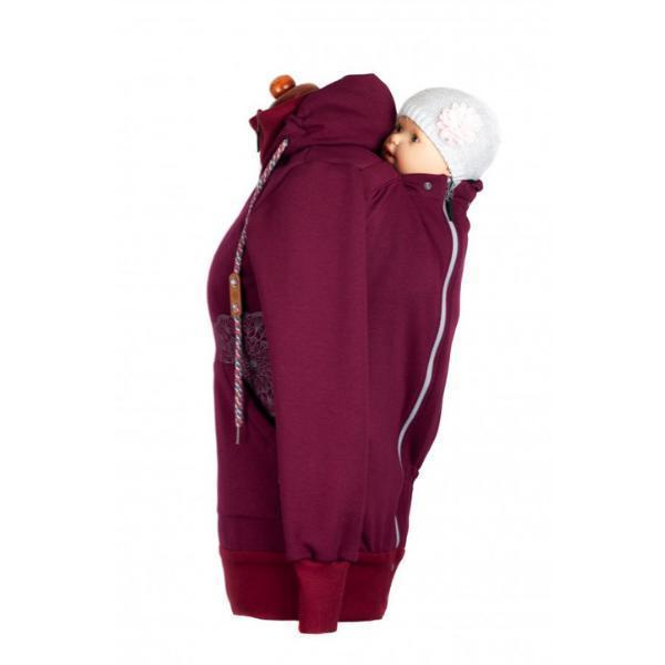 Angel Wings Babywearing Hoodie Bordeaux-Babywearing Outerwear-Angel Wings- Little Zen One US Babywearing baby carriers