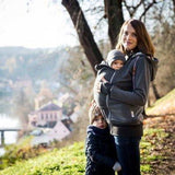 Angel Wings Babywearing Hoodie Dark Grey-Babywearing Outerwear-Angel Wings- Little Zen One US Babywearing baby carriers