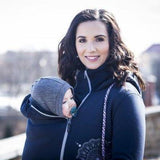 Angel Wings Babywearing Hoodie Navy Blue-Babywearing Outerwear-Angel Wings- Little Zen One US Babywearing baby carriers