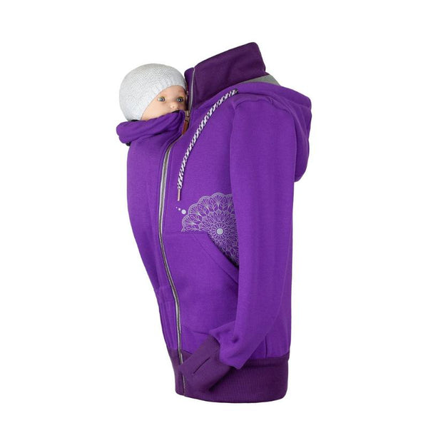 Angel Wings Babywearing Hoodie Purple-Babywearing Outerwear-Angel Wings- Little Zen One US Babywearing baby carriers
