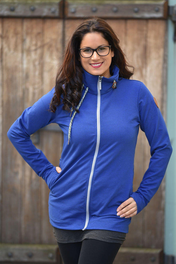 Angel Wings Babywearing Sweatshirt Cobalt Blue-Babywearing Outerwear-Angel Wings- Little Zen One US Babywearing baby carriers