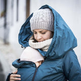 Angel Wings Babywearing Winter Coat Petrol-Babywearing Outerwear-Angel Wings- Little Zen One US Babywearing baby carriers