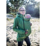 Angel Wings Softshell Jacket Pea Green-Babywearing Outerwear-Angel Wings- Little Zen One US Babywearing baby carriers